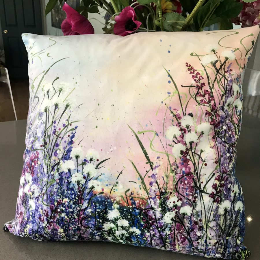 Velvet Cushions Floral Collection Made In Yorkshire
